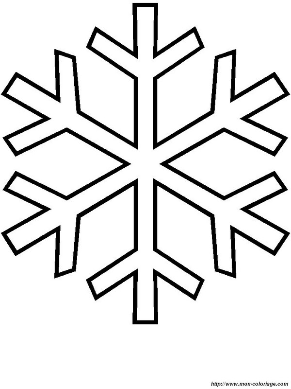 Ausmalbilder Winter, bild schneeflocke 5