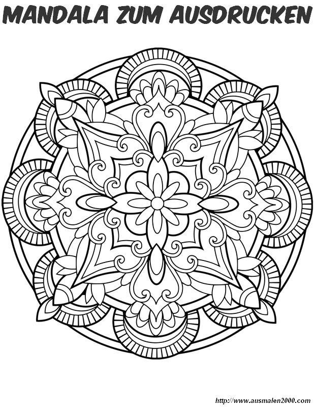Ausmalbilder Mandalas bild Einer der Kerzen gleichartig