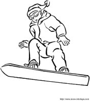 Ausmalbilder Sport, bild snowboard
