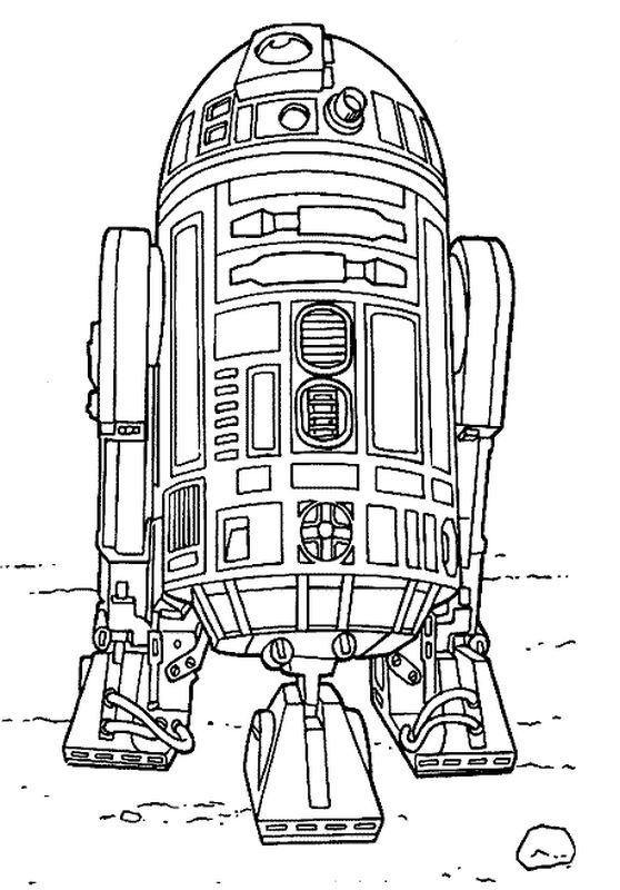 Ausmalbilder Star wars, bild Das freundliche droid R2 D2