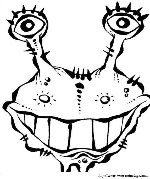 Ausmalbilder Monster und Menschenfresser bild monstern