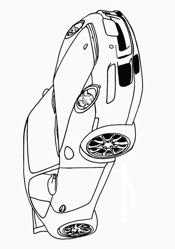Ausmalbilder Auto, bild Porsche 911