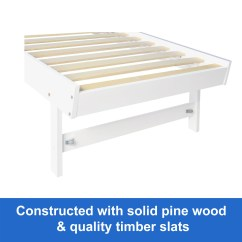 Sofa Bed Timber Slats Pottery Barn Leather Sectional New Wooden Frame White Trundle Daybed Teenager