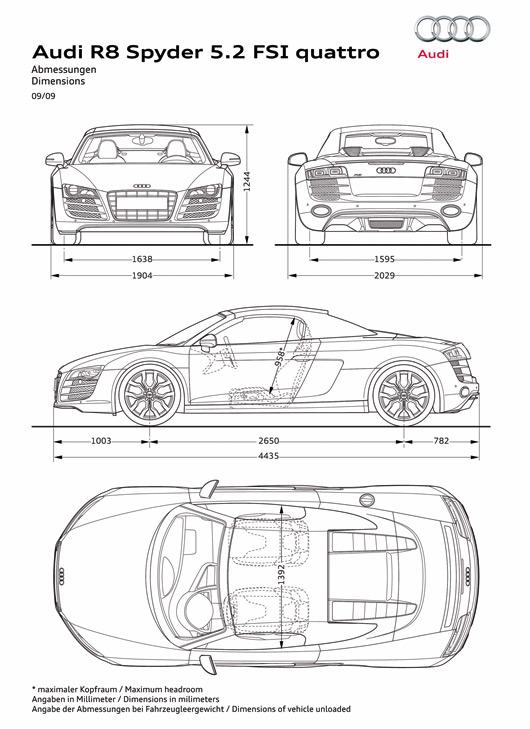R8 dimension blueprint