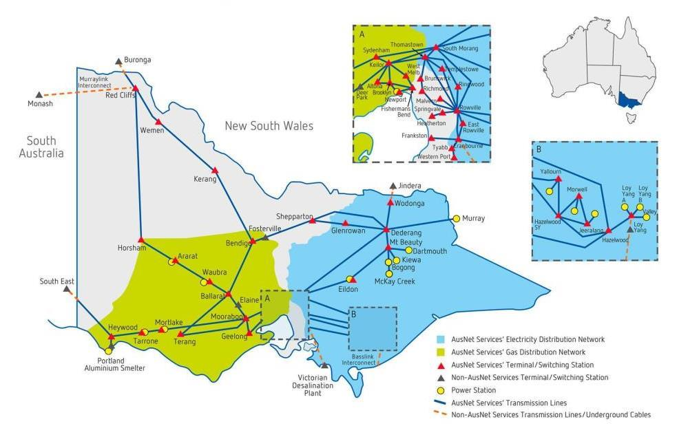 hight resolution of ausnet services electricity and gas network