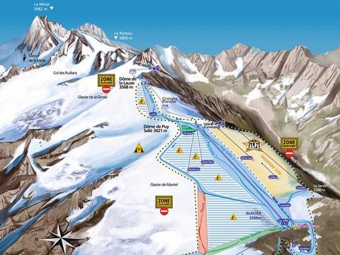 Les 2 Alpes en t  prsentation de la station de ski en t