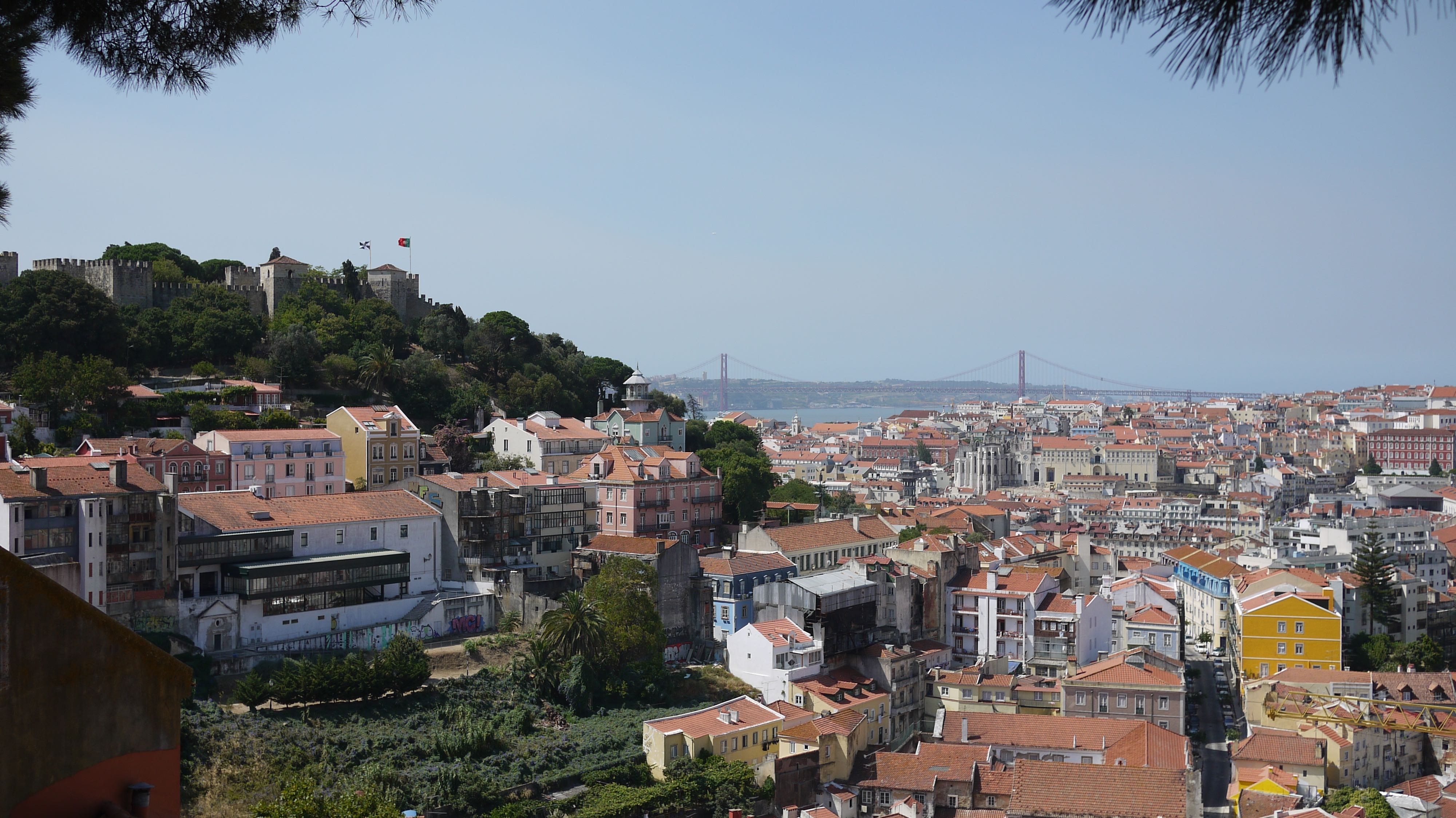 view alfama district lisbon ausplendor