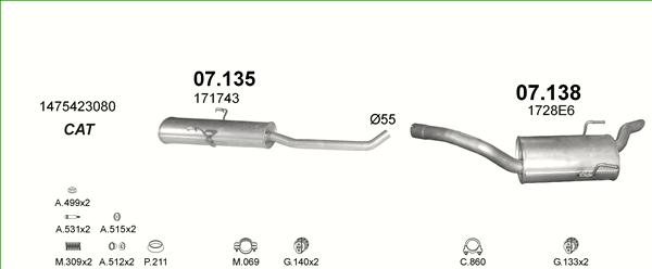 Auspuffe und Abgasrohre für FIAT ULYSSE ab 29,75 EUR,