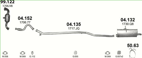 Auspuffe und Abgasrohre für CITROEN BERLINGO 1.6 ab 35,70 EUR,