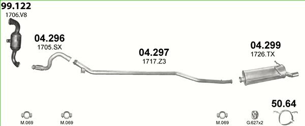Auspuffe und Abgasrohre für CITROEN XSARA PICASSO ab 17,85