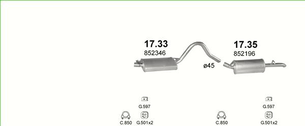 Auspuffe und Abgasrohre für OPEL REKORD E ab 25,29 EUR,