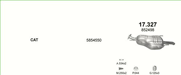 Auspuffe und Abgasrohre für OPEL ZAFIRA A 2.2 ab 44,63 EUR,