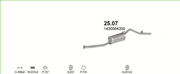 Auspuffe und Abgasrohre für SUZUKI ALTO ab 25,29 EUR,