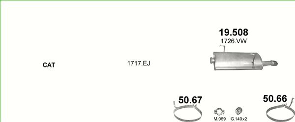 Auspuffe und Abgasrohre für PEUGEOT 206 CC ab 10,41 EUR,