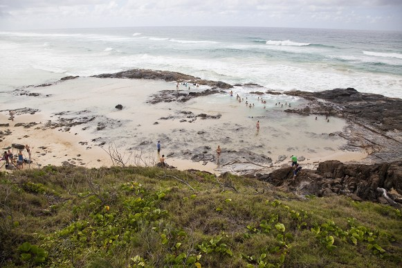 Champagne Pools auf Fraser Island