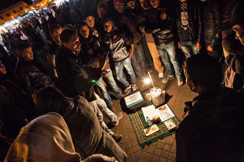 Geschichtenerzähler in Marrakesch