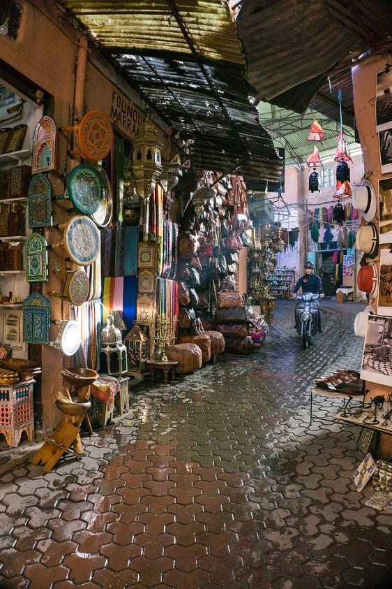 früher Morgen in Marrakesch