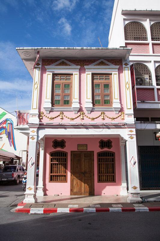 Bunte Häuser in Old Phuket