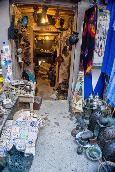 Laden im Souk der Medina von Marrakesch