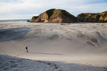 Dünen am Wharariki Beach