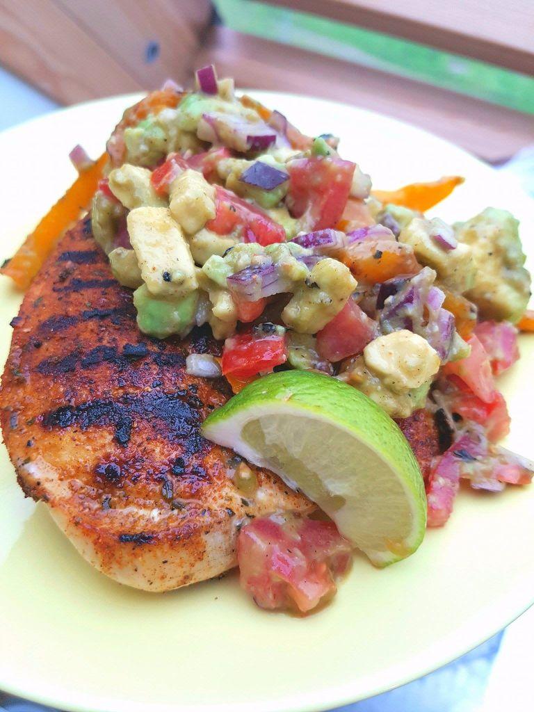 Damit mehr Zeit zum Sonne tanken bleibt: superschnelles Huhn mit Salsalat! :-)