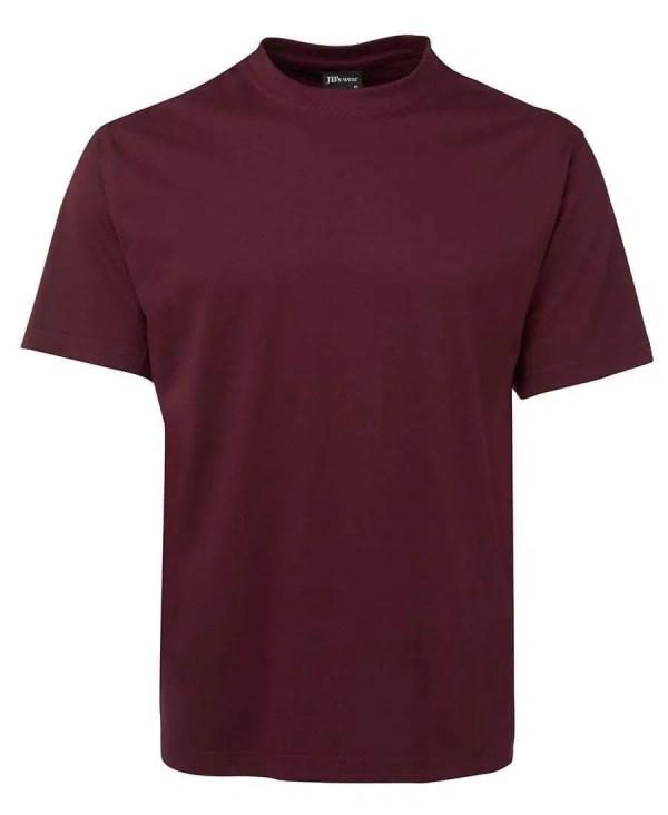 Round Neck T Shirts - Maroon