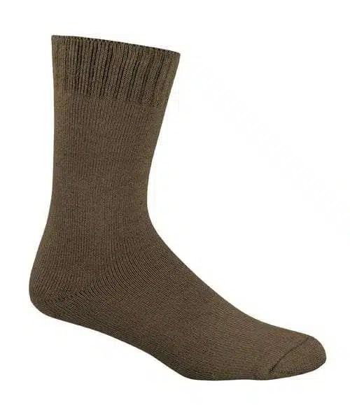 Bamboo Extra Thick Work Socks-Size 4-18 -Khaki