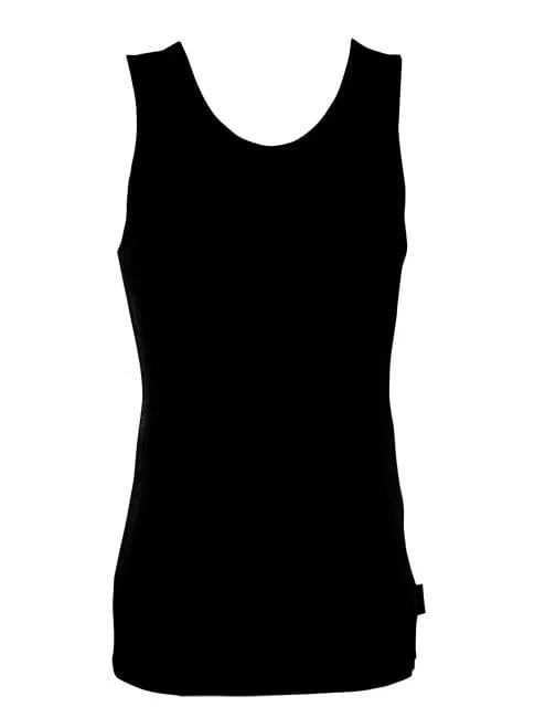 Bamboo Singlets by Bamboo Textiles - Black
