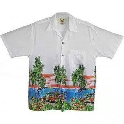 Big Island Hawaiian Shirts - Woody White