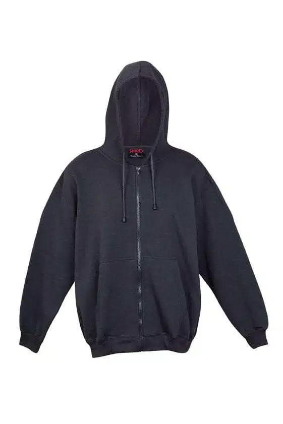 Kangaroo Pocket Hoody Full Zip Charcoal
