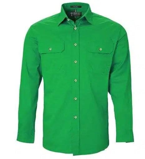 Pilbara LS Full Button Emerald