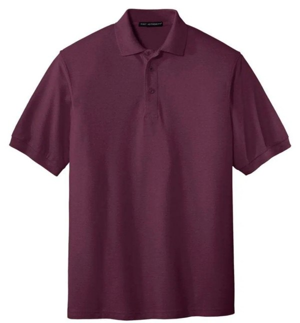 Tall Silk Touch Polo - MAROON