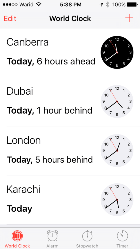 Many time zones to ponder