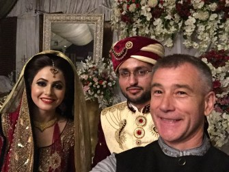 The 'lovely' Saba at her wedding