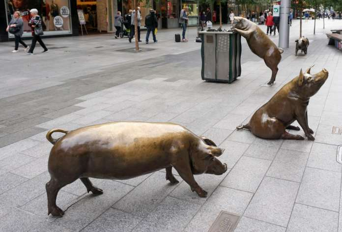 Adelaide Mall pigs