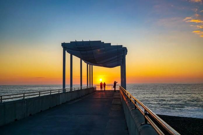 Sunrise in Napier New Zealand