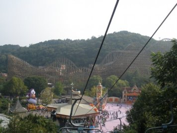 The view from the chairlift I wish I'd discovered prior to the uphill walk...