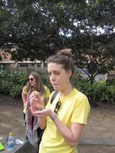 Lana eating wheat bix