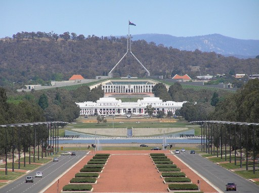 A view of Australia's parliament house