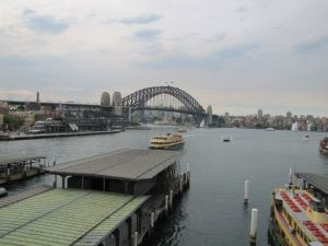 The Harbour Bridge as viewed from the Cahill Expressway