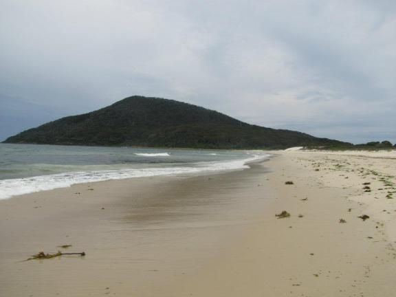 The view along the beach to Yaccaba Headland