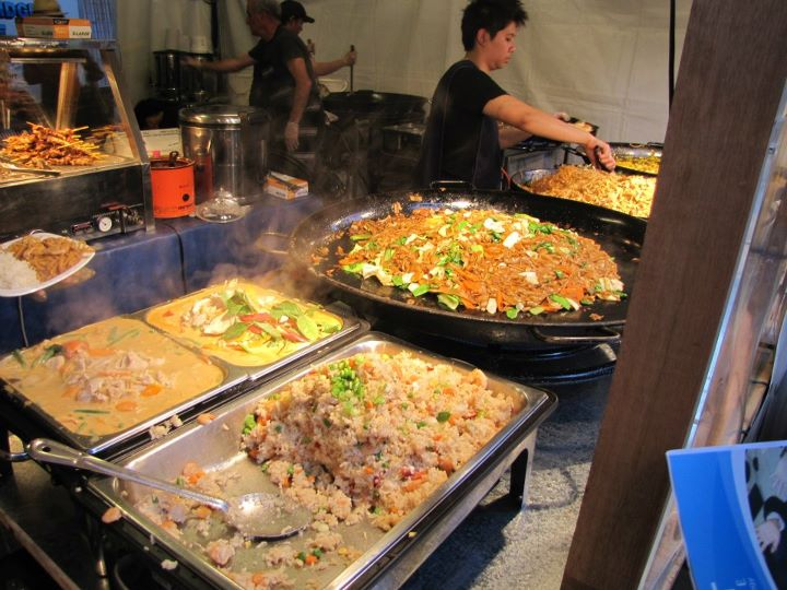 Thai Food from Spanthai cooking at the Night Noodle Markets
