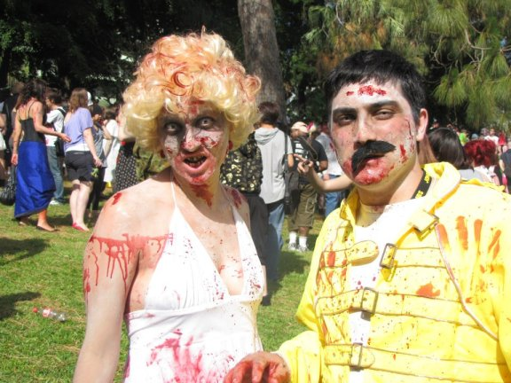 Zombie Freddie Mercury and Zombie Marilyn Munroe