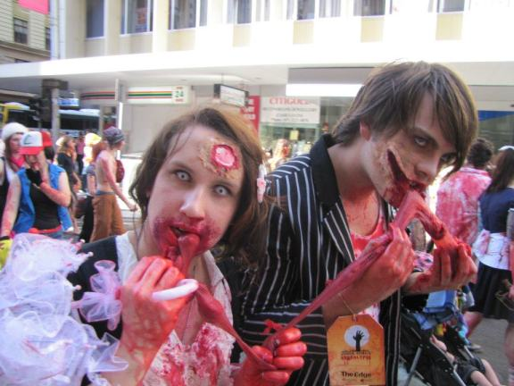 Some gruesome looking zombies