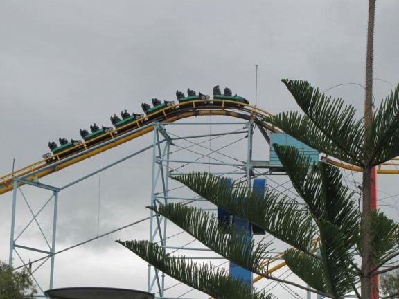 The Cyclone roller coaster at Dream World