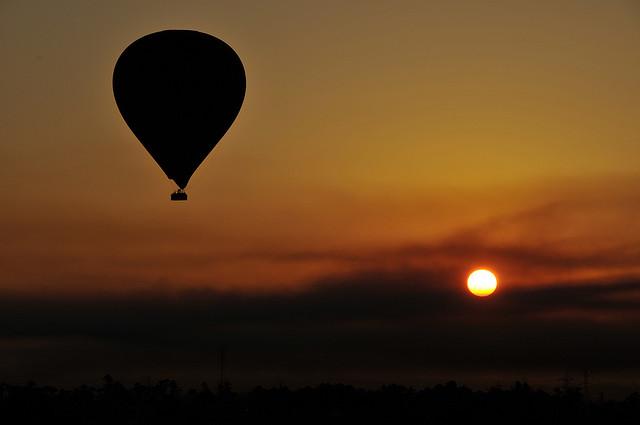 Hot air balloon over Luxor