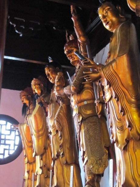 Buddha statues at Jade Buddha Temple