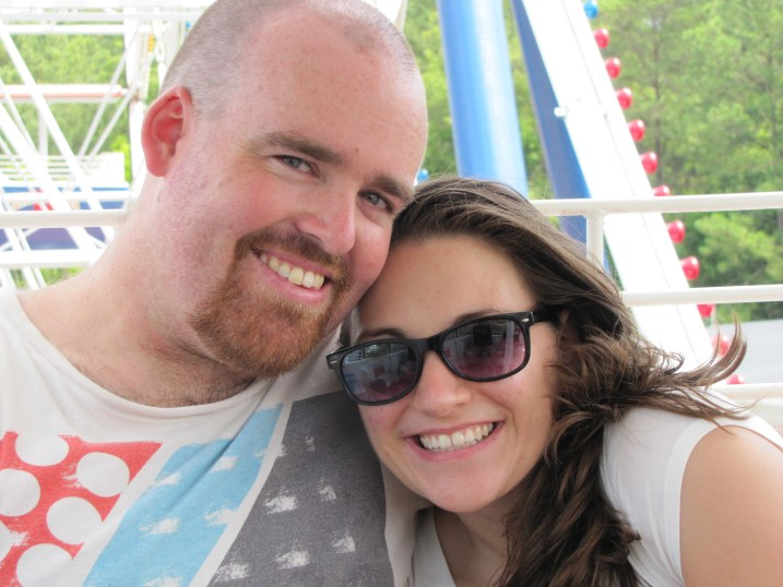 Heather and I at Kings Dominion