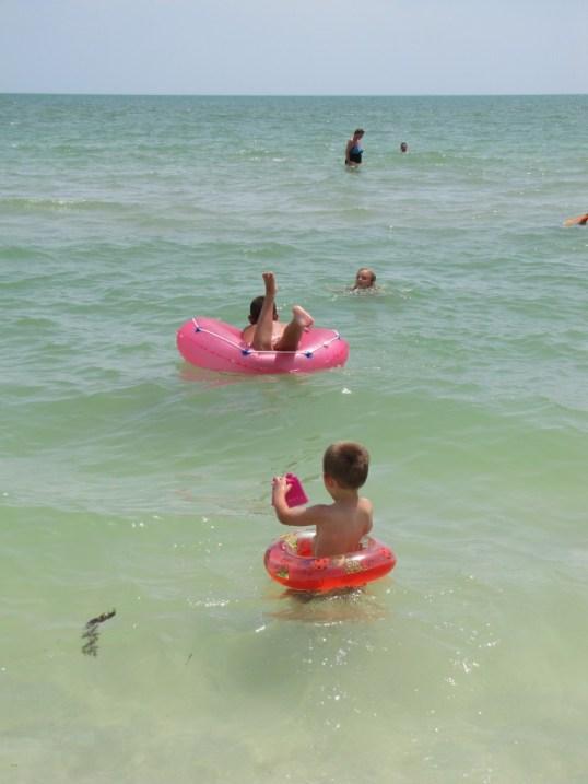 Kids in the ocean