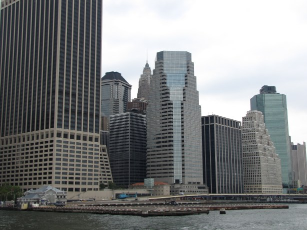 Chopper and New York City skyline